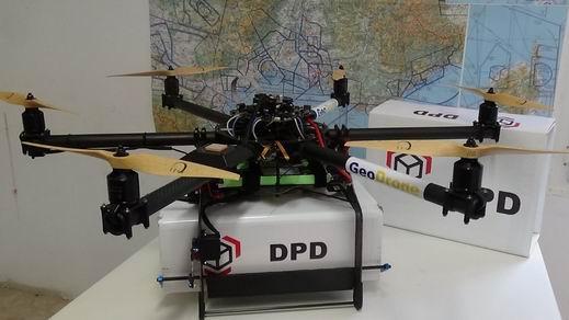 Drón technológiát tesztelt a GeoPost nemzetközi csomagszállító