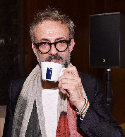 NEW YORK, NY - JUNE 13: LAVAZZA brand ambassador and chef Massimo Bottura drinks LAVAZZA coffee at the World's 50 Best Restaurants 2016 Awards at Cipriani Wall Street on June 13, 2016 in New York City. (Photo by Bryan Bedder/Getty Images for Lavazza)