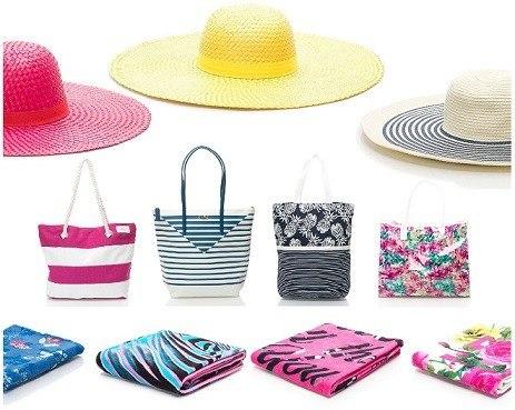 Bikini_kalapok, taskak, törölközök