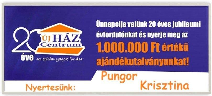 Egymillió forintos Ajándékutalványt adott át az újHÁZ