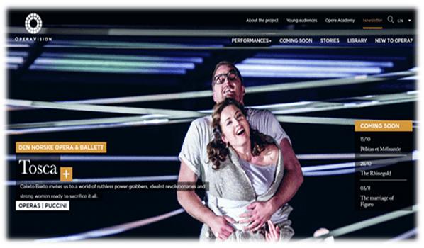Az operák új online játszóhelye
