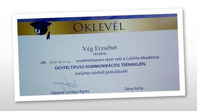 Calivita_oklevel